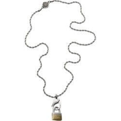 Diesel Men's Lock Pendant Stainless Steel Necklace found on Bargain Bro India from Macy's Australia for $100.55