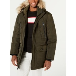 Calvin Klein Men's Long Snorkel Coat with Faux-Fur Trimmed Hood found on MODAPINS from Macy's for USD $139.99