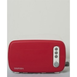 Berghoff Seren Side Loading Toaster with Red Panel