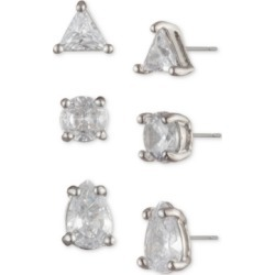 Givenchy Silver-Tone 3-Pc. Set Crystal Stud Earrings found on Bargain Bro India from Macy's for $40.80