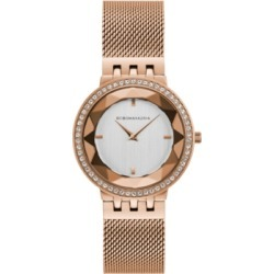 Bcbgmaxazria Ladies Rose Gold Tone Mesh Bracelet Watch with Silver Dial, 35mm found on Bargain Bro Philippines from Macy's Australia for $133.06