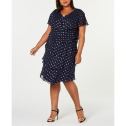 Sl Fashions Plus Size Metallic-Dot Tiered Dress found on Bargain Bro from Macy's Australia for USD $95.36