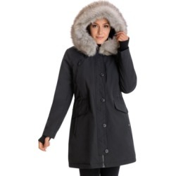 BCBGeneration Faux-Fur-Trim Hooded Water-Resistant Anorak Parka found on MODAPINS from Macy's for USD $206.25
