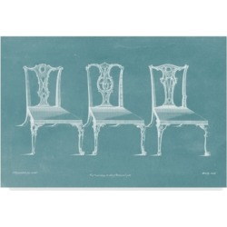"""Thomas Chippendale Design For a Chair Iii Canvas Art - 37"""" x 49"""""""