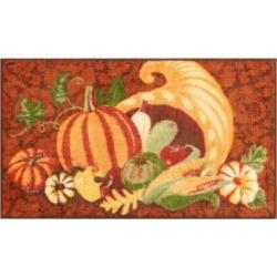 Nourison Cornucopia Pumpkin 18
