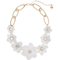 Christian Siriano New York Gold Tone and White Flower Collar Necklace found on Bargain Bro Philippines from Macy's for $68.00