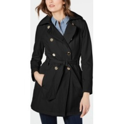 Guess Double-Breasted Hooded Water-Resistant Trench Coat found on MODAPINS from Macy's for USD $119.99