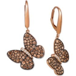 Le Vian Diamond Butterfly Drop Earrings (1-7/8 ct. t.w.) in 14k Rose Gold found on Bargain Bro India from Macys CA for $3634.36