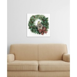 "iCanvas ""Holiday Wreath Iii"" by Kathleen Parr McKenna Gallery-Wrapped Canvas Print (26 x 26 x 0.75)"