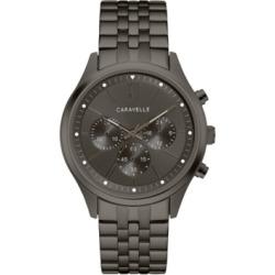 Caravelle Designed by Bulova Men's Chronograph Gunmetal Stainless Steel Bracelet Watch 41mm found on Bargain Bro India from Macy's Australia for $149.09