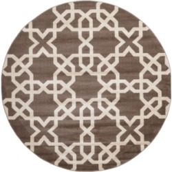 Bridgeport Home Arbor Arb5 Light Brown 8' x 8' Round Area Rug found on Bargain Bro India from Macy's for $250.00