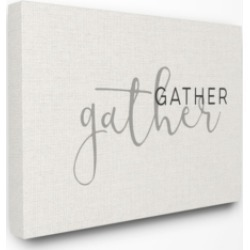 """Stupell Industries Gather Typography Canvas Wall Art, 24"""" x 30"""""""