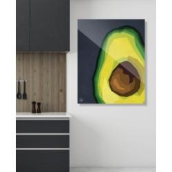 "Creative Gallery Large Sliced Graphic Avocado on Blue 24"" x 36"" Acrylic Wall Art Print"