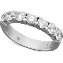Certified Seven Diamond Station Band Ring in 14k White Gold (1-1/2 ct. t.w.) found on Bargain Bro India from Macy's for $4160.00