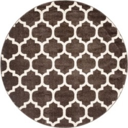 Bridgeport Home Arbor Arb1 Brown 6' x 6' Round Area Rug found on Bargain Bro India from Macy's for $194.00