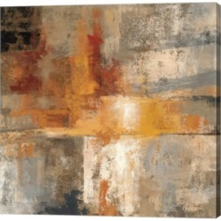 """Metaverse Silver and Amber Crop by Silvia Vassileva Canvas Art, 36"""" x 36"""""""