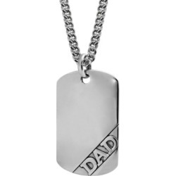 Sutton Sterling Silver Dad Dog Tag Pendant Necklace found on Bargain Bro India from Macy's Australia for $277.31