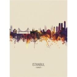 Michael Tompsett Istanbul Turkey Skyline Portrait Iii Canvas Art - 27