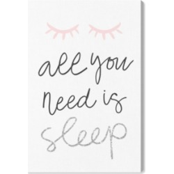 Oliver Gal All You Need is Sleep Pink and Silver Canvas Art - 15