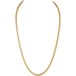 """Esquire Men's Jewelry 22"""" Wheat Chain Link Necklace in 14k Gold-Plated Sterling Silver, Created for Macy's"""