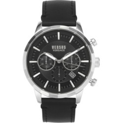 Versus by Versace Men's Chronograph Eugene Black Leather Strap Watch 46mm found on Bargain Bro Philippines from Macy's Australia for $216.99