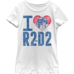 Fifth Sun Star Wars Big Girl's I Heart R2-D2 Color Crayon Short Sleeve T-Shirt found on Bargain Bro India from Macys CA for $23.08