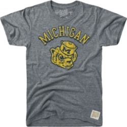Retro Brand Men's Michigan Wolverines Tri-Blend Vault Logo T-Shirt found on Bargain Bro India from Macy's for $34.00