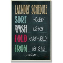 Stupell Industries Home Decor Laundry Schedule Chalkboard Bathroom Wall Plaque Art, 12.5