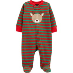 Carter's Baby Boy Christmas Reindeer Zip-Up Fleece Sleep & Play found on Bargain Bro India from Macy's for $10.80