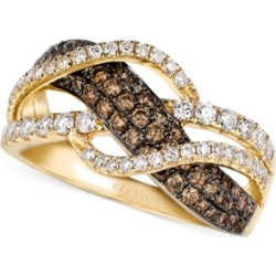 Le Vian Chocolate and White Diamond Woven Ring in 14k Gold (1 ct. t.w.) found on Bargain Bro Philippines from Macy's for $1349.70