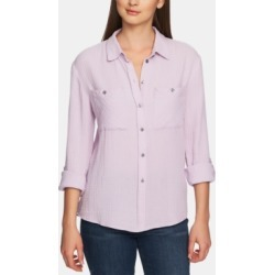 1.state Cotton Collared Patch-Pocket Shirt found on MODAPINS from Macy's for USD $34.50