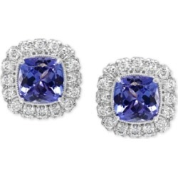 Effy Tanzanite (1-1/3 ct-t.w.) & Diamond (3/8 ct. t.w.) Halo Stud Earrings in 14k White Gold found on Bargain Bro Philippines from Macy's for $4850.00