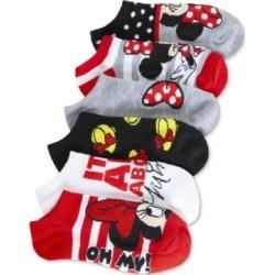 Disney's Minnie Mouse 6-Pack No-Show Socks, Little Girls & Big Girls