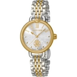 Roberto Cavalli By Franck Muller Women's Swiss Quartz Two-Tone Gold Stainless Steel Bracelet Watch, 30mm found on Bargain Bro Philippines from Macy's Australia for $976.09