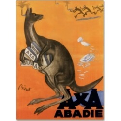 Vintage Apple Collection 'Kangaroo' Canvas Art - 32