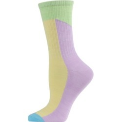 MeMoi Pastel Patch Women's Crew Socks found on Bargain Bro from Macy's for USD $4.56