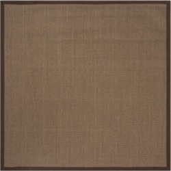 Safavieh Natural Fiber Brown 6' x 6' Sisal Weave Square Rug found on Bargain Bro Philippines from Macy's for $172.80