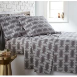 Southshore Fine Linens Modern Sphere Printed 4 Piece Sheet Set, California King Bedding