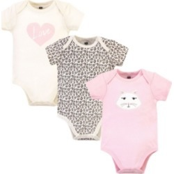 Hudson Baby Girls Kitty Bodysuits, Pack of 3 found on Bargain Bro India from Macy's for $13.99