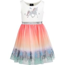 Pink & Violet Little Girls Unicorn Rainbow Dress found on Bargain Bro Philippines from Macys CA for $71.62
