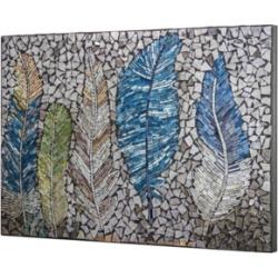 American Art Decor Birds Feathers Crushed Glass Mosaic Wall Art Decor