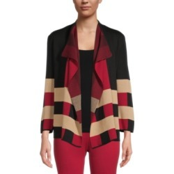Kasper Colorblocked Open-Front Cardigan found on MODAPINS from Macy's Australia for USD $62.85