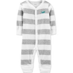 Carter's Baby Boy's 1-Pc. Striped Whale Cotton Sleep & Play