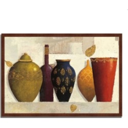 Tangletown Fine Art Jeweled Vessels by James Wiens Framed Painting Print, 32