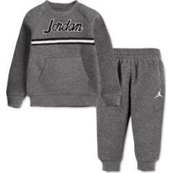 Jordan Toddler Boys 2-Pc. Fleece Taping Sweatshirt & Jogger Pants Set