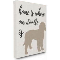 "Stupell Industries Home is Where Our Golden Doodle Is Canvas Wall Art, 30"" x 40"""