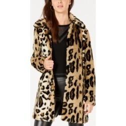 kensie Leopard-Print Faux-Fur Coat found on MODAPINS from Macys CA for USD $156.46