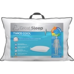 Great Sleep Twice Cool Premium Adjustable Foam Cluster King Pillow found on Bargain Bro Philippines from Macy's for $110.99