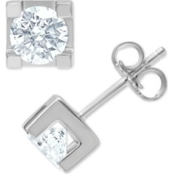 Diamond Square-Set Stud Earrings (1 ct. t.w.) in 14k White Gold found on Bargain Bro India from Macy's for $4499.55