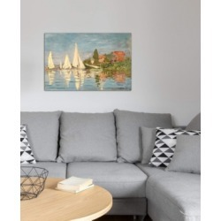"""iCanvas """"Regatta at Argenteuil, c.1872"""" by Claude Monet Gallery-Wrapped Canvas Print (26 x 40 x 0.75)"""